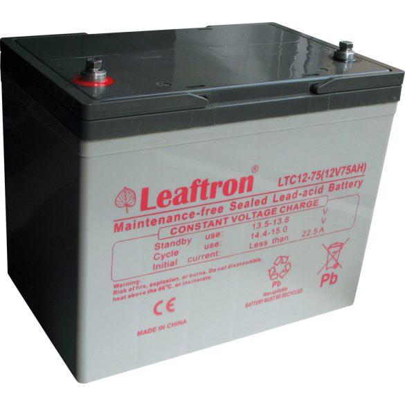 Leaftron LTC12-75 12V 75Ah ciklikus elektromos kerékpár akkumulátor