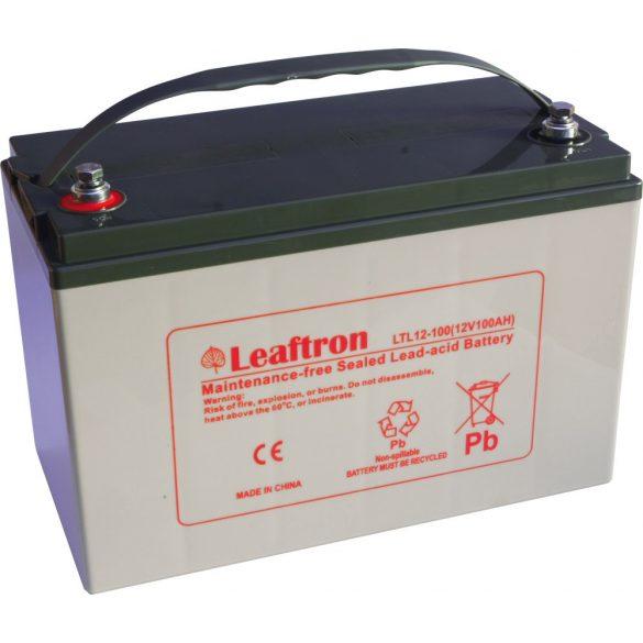 Leaftron LTL12-100 12V 100Ah zselés akkumulátor