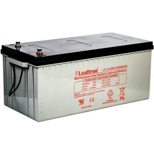 Leaftron LTL12-200 12V 200Ah zselés akkumulátor