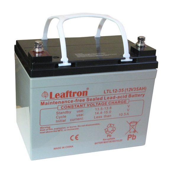 Leaftron LTL12-35 12V 35Ah zselés akkumulátor