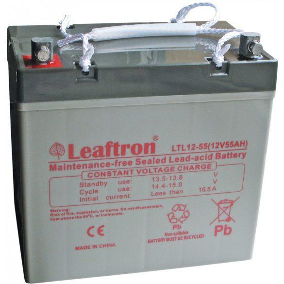 Leaftron LTL12-55 12V 55Ah zselés akkumulátor