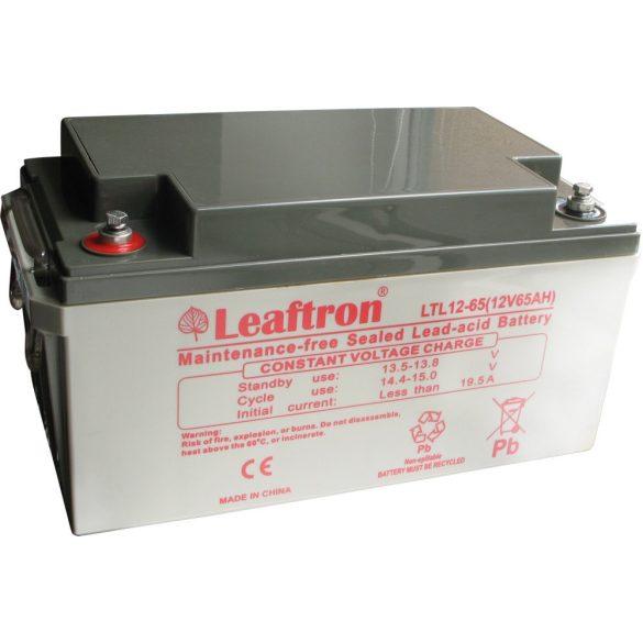 Leaftron LTL12-65 12V 65Ah zselés akkumulátor