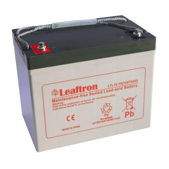 Leaftron LTL12-75 12V 75Ah zselés akkumulátor