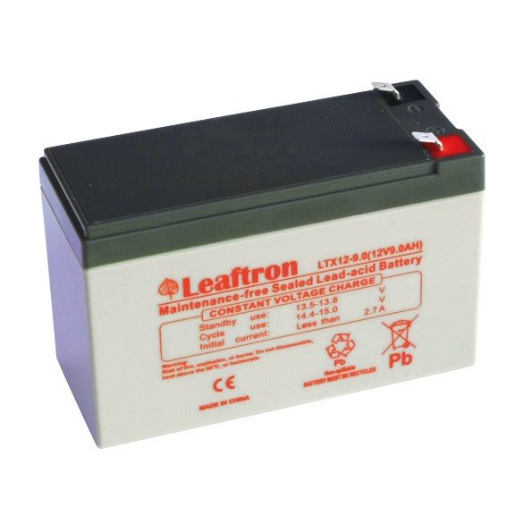 Leaftron LTX12-9 12V 9Ah zselés akkumulátor