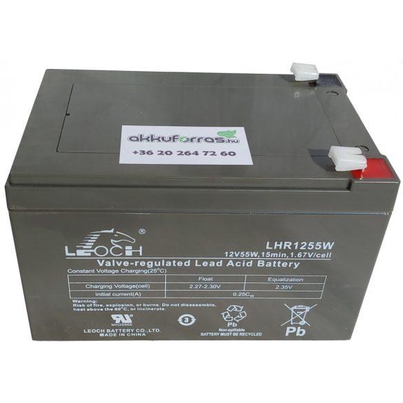 Leoch LHR1255W 12V 13Ah nagyáramú zselés akkumulátor