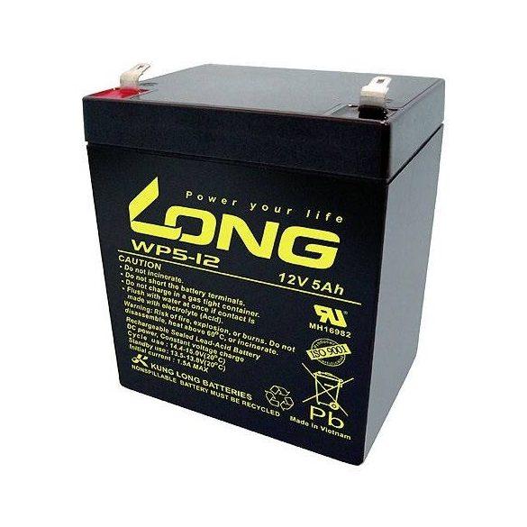 Long WP5-12 12V 5Ah zselés akkumulátor