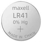 Maxell LR41,192, AG3 alkáli tartós gombelem