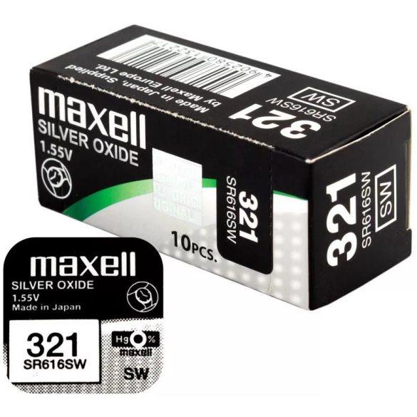 Maxell 321 SR616SW ezüst-oxid gombelem