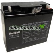 12V 17Ah MotoBatt OT17-12 zselés akkumulátor