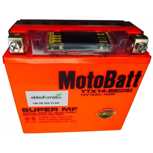 MotoBatt YTX14-BS iGEL 12V 12Ah motor akkumulátor