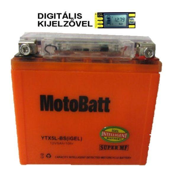 MotoBatt YTX5L-BS iGEL 12V 5Ah motor akkumulátor