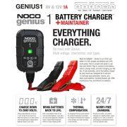 NOCO Genius 1 Lithium-ion 6V/12V 1A smart automata töltő