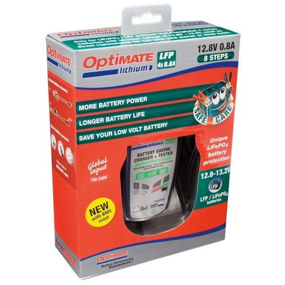 Optimate Litium 4S 0,8A automata Litium akkumulátor töltő