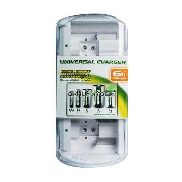 Panasonic BQ-CC15E intelligens auto-stop univerzális AA AAA C D 9V elem akkumulátor töltő