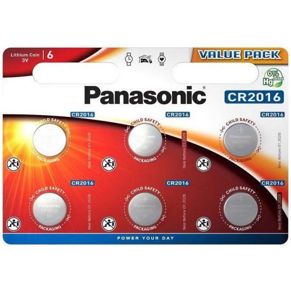 Panasonic CR2016 6db Lithium gombelem