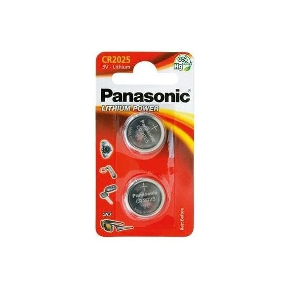 Panasonic CR2025 Lithium Power 3V gombelem