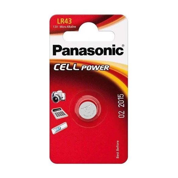 Panasonic LR43 AG12 alkáli gombelem