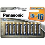 Panasonic Everyday Power AA LR6 MN1500 mignon ceruza tartós elem