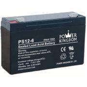 Power Kingdom PS12-6 6V 12Ah zselés akkumulátor