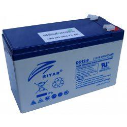 Ritar DC12-9 12V 9Ah RT1290D 6-DZM-9 elektromos kerékpár akkumulátor