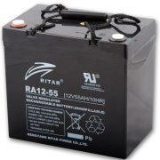 Ritar RA12-55 12V 55Ah zselés akkumulátor