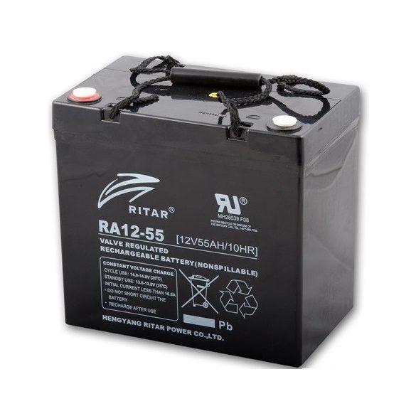 Ritar 12V 55Ah RA12-55 zselés akkumulátor