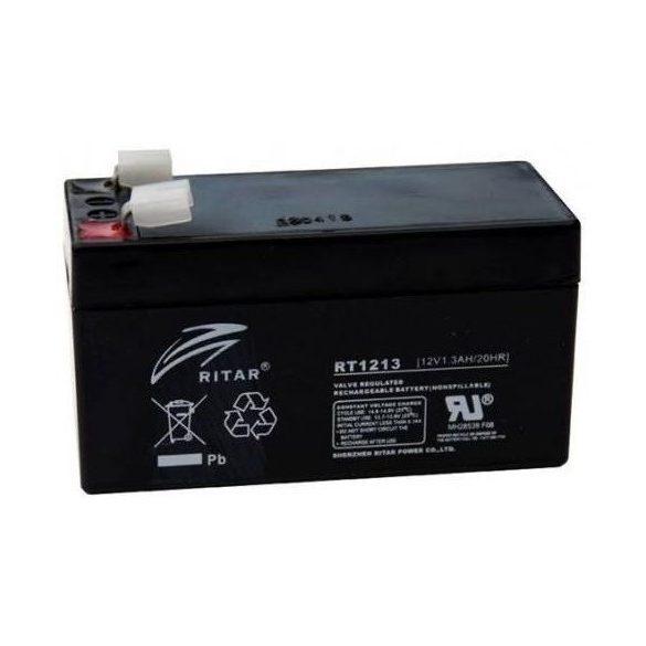 12V 1,3Ah Ritar RT1213 zselés akkumulátor