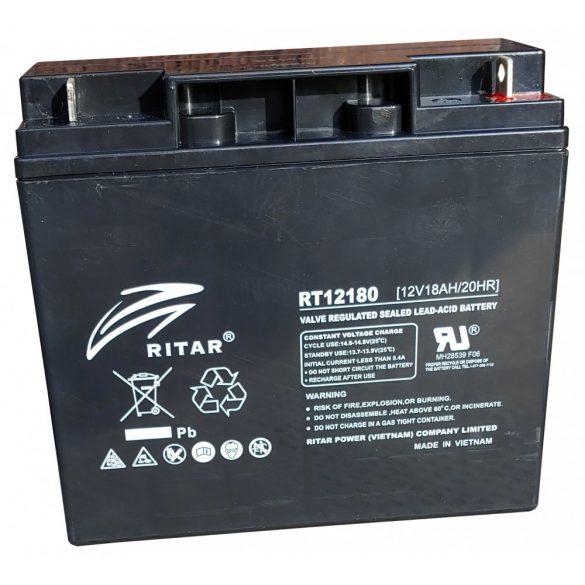 Ritar RT12180 12V 18Ah zselés akkumulátor