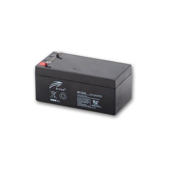 12V 3,2Ah Ritar RT1232 zselés akkumulátor