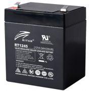 12V 4,5Ah Ritar RT1245 zselés akkumulátor
