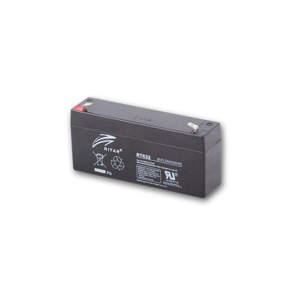 6V 3,2Ah Ritar RT632 zselés akkumulátor
