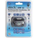 Steck STF10 3W, 120lm kézmozgás érzékelős tölthető Led akkumulátoros fejlámpa