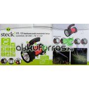 Steck STL 125 5W CREE + 1W 12 LED kemping,horgász akkumulátoros LED lámpa