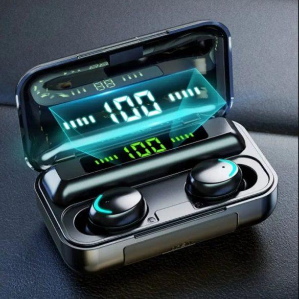 TWS F9 dokkolóval ellátott bluetooth vezeték nélküli fülhallgató