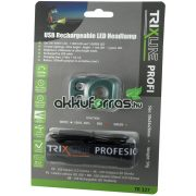 TRIXLINE TR 327 3W+zöld+piros LED akkumulátoros fejlámpa