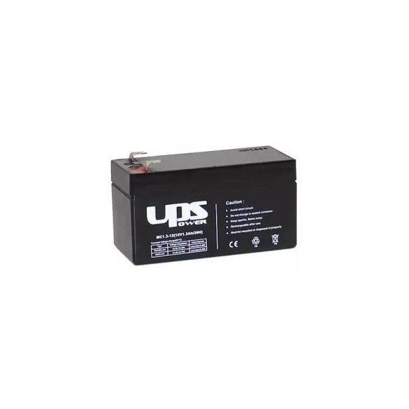 UPS Power MC1.3-12 12V 1,3Ah zselés akkumulátor