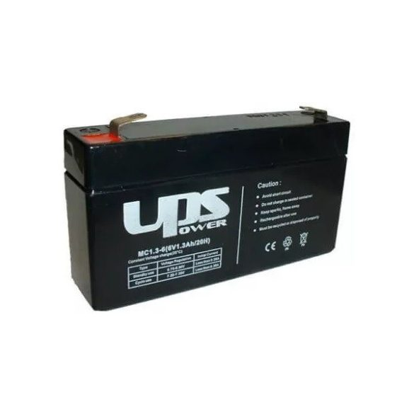 6V 1,3Ah UPS Power MC1.3-6 zselés akkumulátor