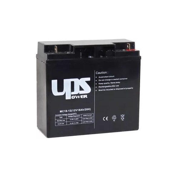 UPS Power MC18-12 12V 18Ah zselés akkumulátor