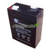 6V 2,8Ah UPS Power MC2.8-6 zselés akkumulátor