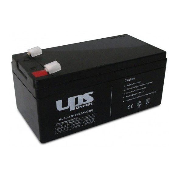 12V 3,3Ah UPS Power MC3.3-12 zselés akkumulátor