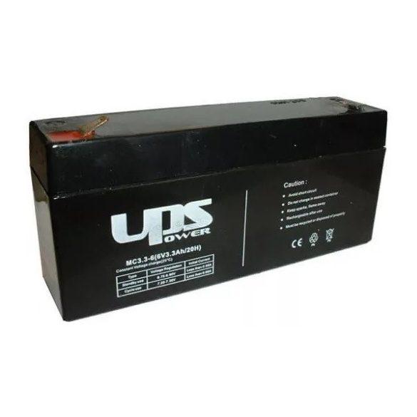 UPS Power MC3.3-6 6V 3,3Ah zselés akkumulátor