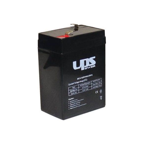 UPS Power 6V 4Ah F1 MC4-6 gondozásmentes akkumulátor