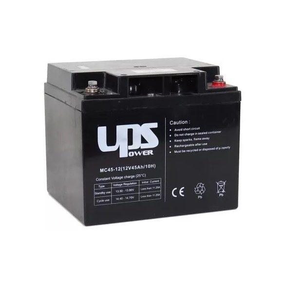 12V 45Ah UPS Power MC45-12 zselés akkumulátor