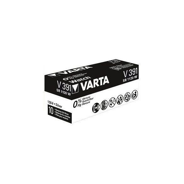 Varta V 391 SR1120 W ezüst-oxid gombelem