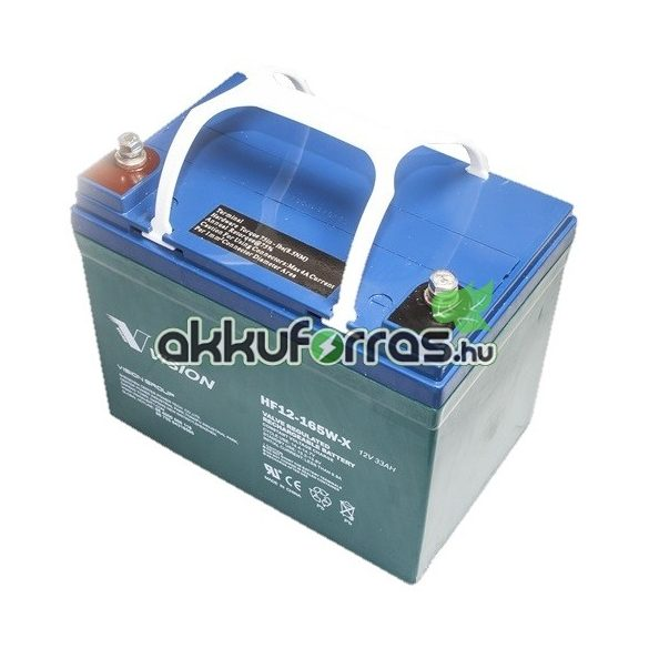Vision HF12-165W-X 12V 33Ah nagyáramú zárt zselés akkumulátor