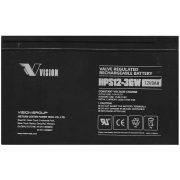 12V 9Ah Vision HPS12-36W-F2 nagy áramú zselés akkumulátor