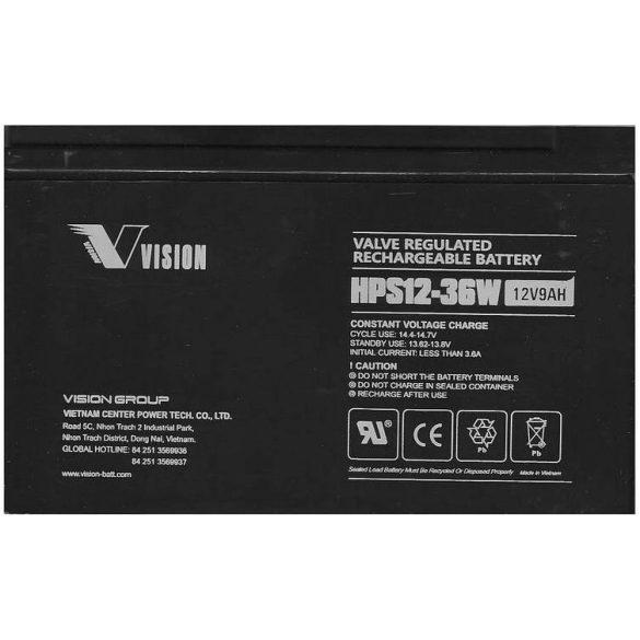 Vision HPS12-36W 12V 9Ah nagy áramú zselés akkumulátor