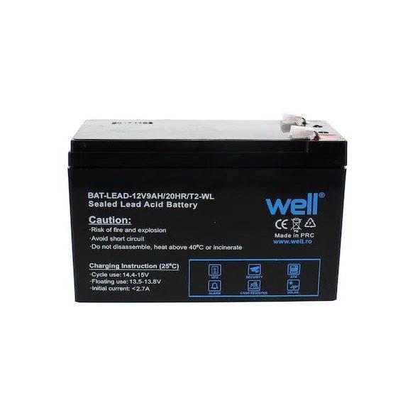 Well 12V 9Ah zselés akkumulátor