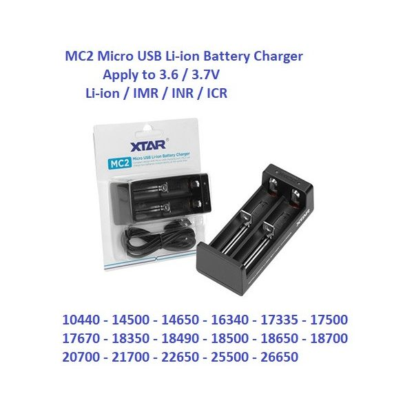 Xtar MC2 Li-ion akkumulátor töltő