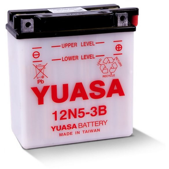 YUASA 12N5-3B 12V 5Ah YB5L-B motor akkumulátor